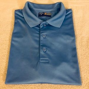 Callaway Shirts - Callaway Solid Blue Golf Polo Shirt size L